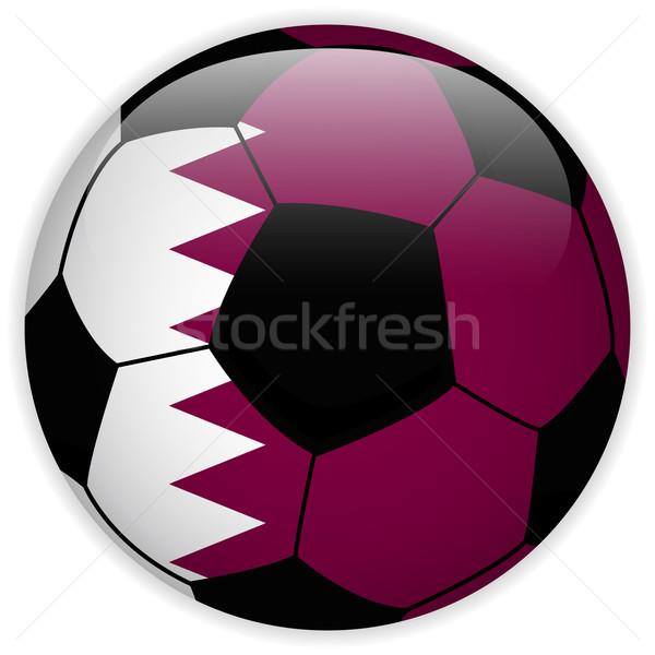 Katar banderą piłka wektora świat piłka nożna Zdjęcia stock © gubh83