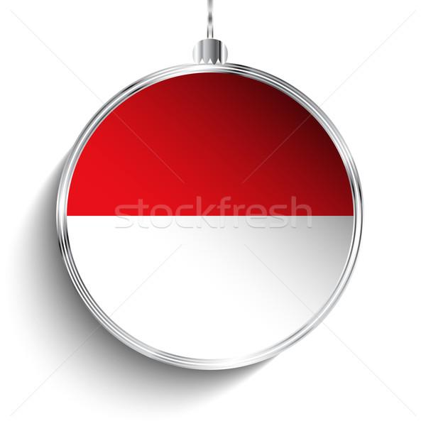 Alegre natal prata bola bandeira Mônaco Foto stock © gubh83