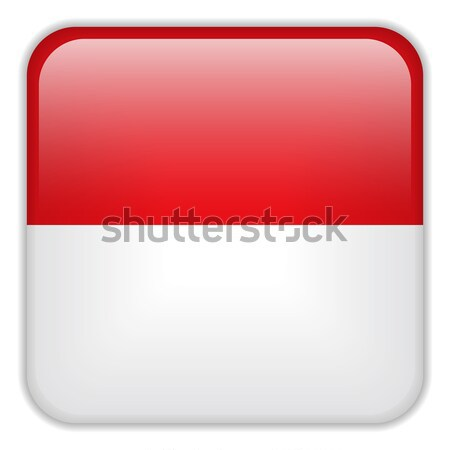 Monaco Flag Smartphone Application Square Buttons vector