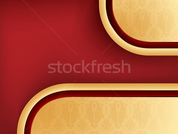 Damaszt végtelenített piros copy space szerkeszthető vektor Stock fotó © gubh83
