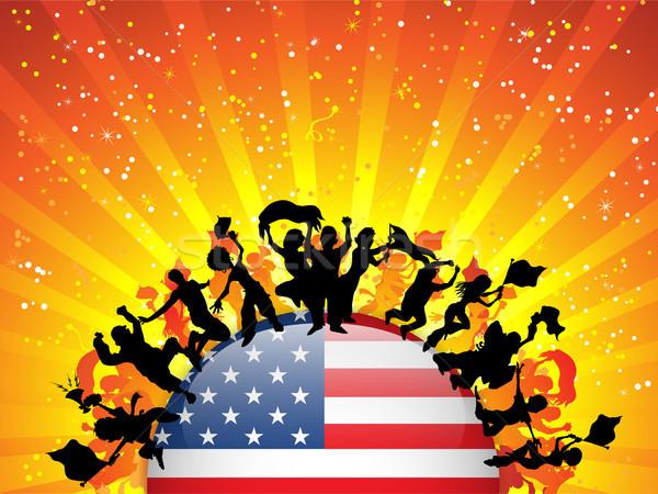 USA Sport Fan Crowd with Flag Stock photo © gubh83