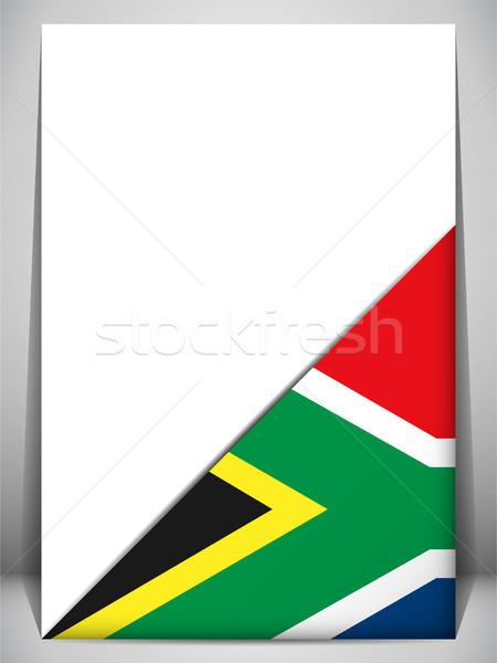 南アフリカ 国 フラグ にログイン 旅行 ストックフォト © gubh83