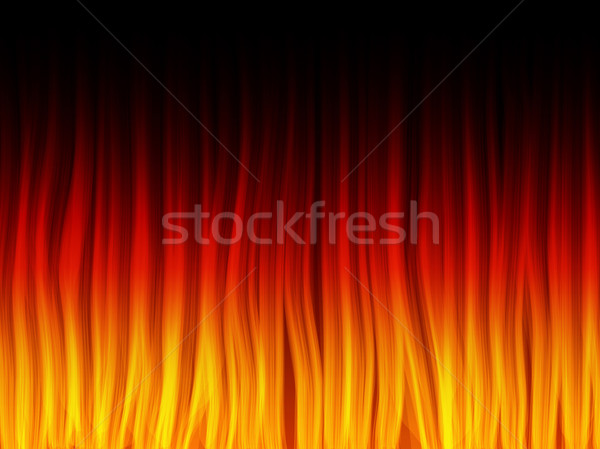 Realistic Fire Flames. Color and forms are editable. Stock photo © gubh83
