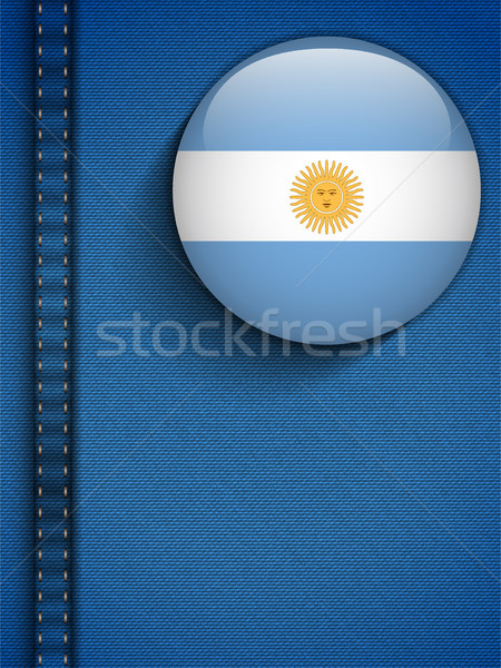 Argentina Flag Button in Jeans Pocket Stock photo © gubh83