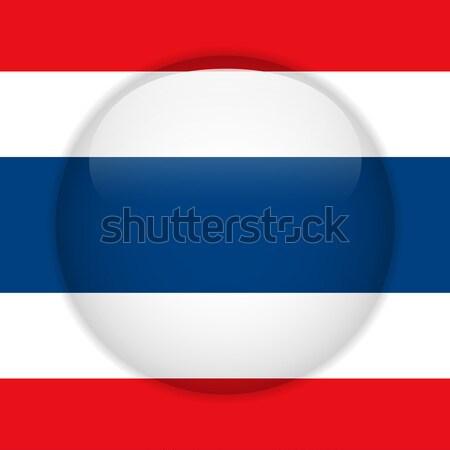 Thailand Flag Glossy Button Stock photo © gubh83