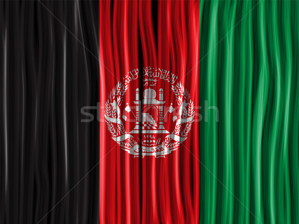Afghanistan Flag Wave Fabric Texture Background Stock photo © gubh83