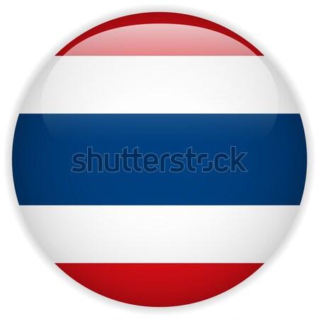 Таиланд флаг кнопки вектора стекла Сток-фото © gubh83