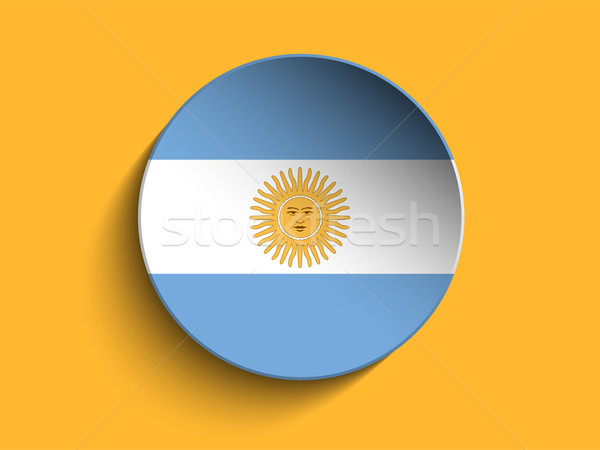 Flag Paper Circle Shadow Button Argentina Stock photo © gubh83