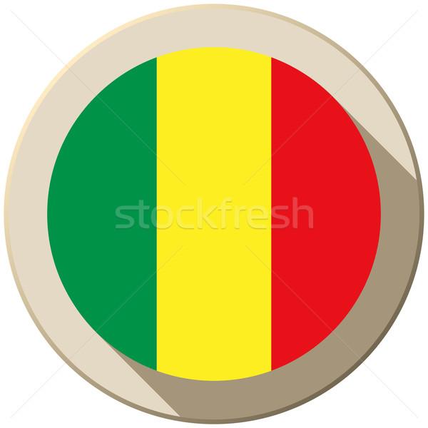 Mali Flag Button Icon Modern Stock photo © gubh83