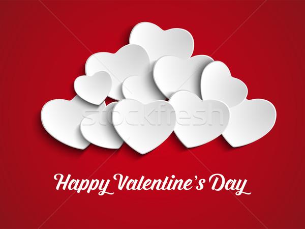 Dia dos namorados coração balões vermelho vetor festa Foto stock © gubh83