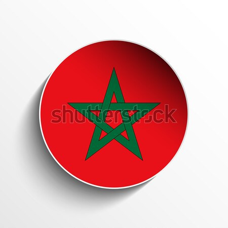 Morocco Flag Paper Circle Shadow Button Stock photo © gubh83