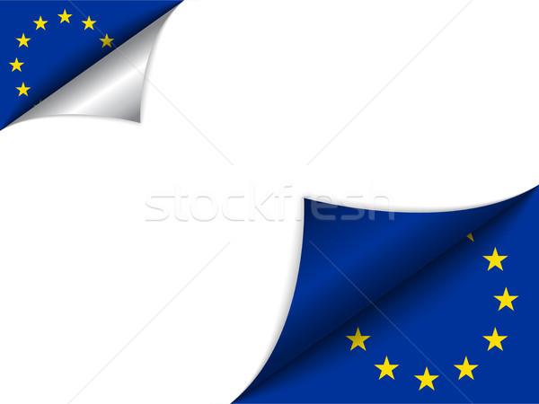 Zdjęcia stock: Europie · kraju · banderą · strona · wektora · podpisania