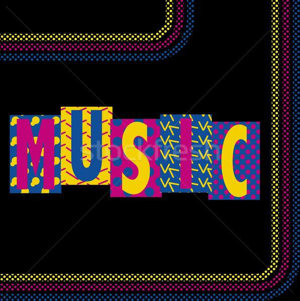 Neon muzyki funky retro obraz Zdjęcia stock © gubh83