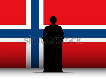 Svájc beszéd sziluett zászló vektor férfi Stock fotó © gubh83