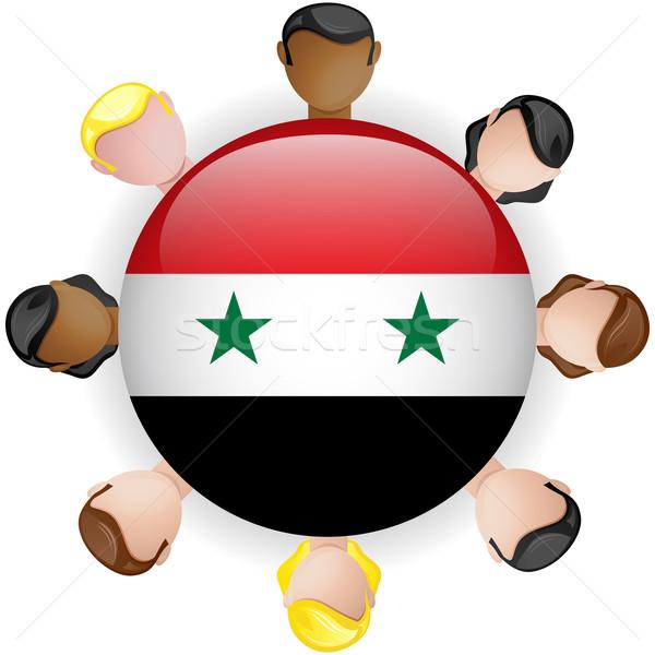 Syrie pavillon bouton travail d'équipe personnes groupe Photo stock © gubh83