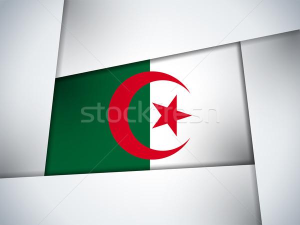 Алжир стране флаг геометрический вектора бизнеса Сток-фото © gubh83