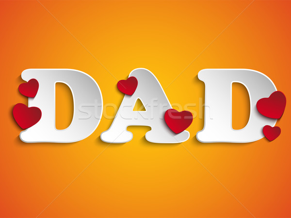 Happy Fathers Day with Heart Background Stock photo © gubh83