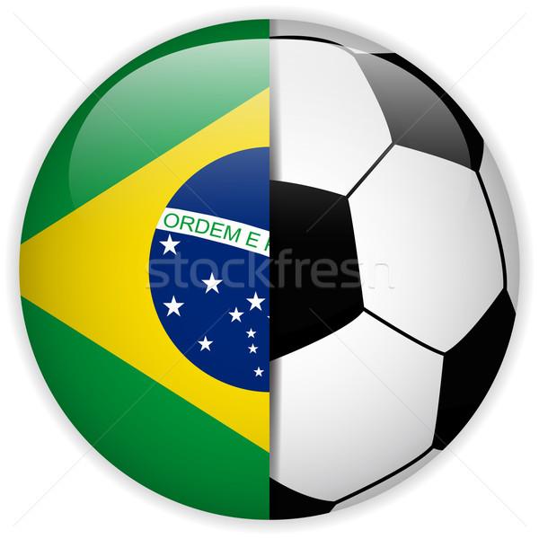 Brasil bandeira futebol vetor esportes mundo Foto stock © gubh83