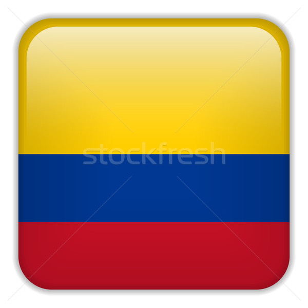 Colombia Flag Smartphone Application Square Buttons Stock photo © gubh83