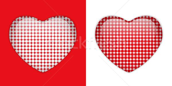 Stock fotó: üveg · szív · textúrák · vektor · boldog · fény