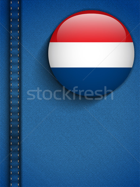 Netherlands Flag Button in Jeans Pocket Stock photo © gubh83