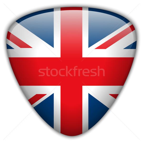UK Flag Glossy Button Stock photo © gubh83