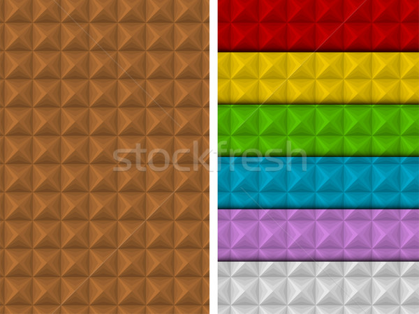 Seamless Square Pattern Colorful Set Geometric  Stock photo © gubh83