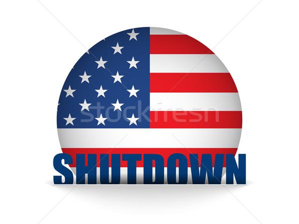 Egyesült Államok kormány gomb vektor kék zászló Stock fotó © gubh83