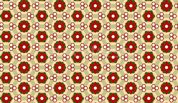 Christmas Flower Background Seamless Pattern Stock photo © gubh83