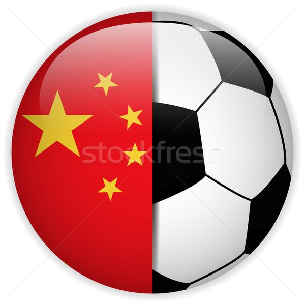 Chiny banderą piłka wektora świat piłka nożna Zdjęcia stock © gubh83