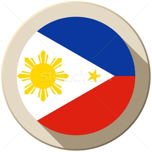 Philippines pavillon bouton icône modernes vecteur Photo stock © gubh83