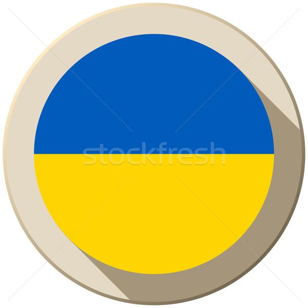 Ukrajna zászló gomb ikon modern vektor Stock fotó © gubh83