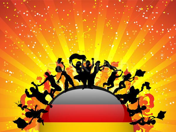 Germany Sport Fan Crowd with Flag Stock photo © gubh83