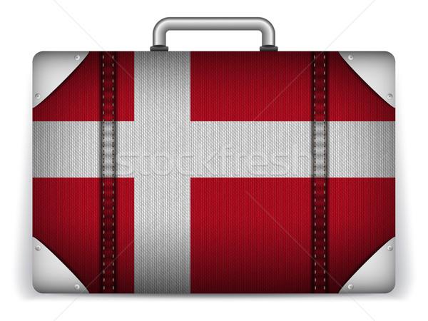 Дания путешествия Камера флаг отпуск вектора Сток-фото © gubh83