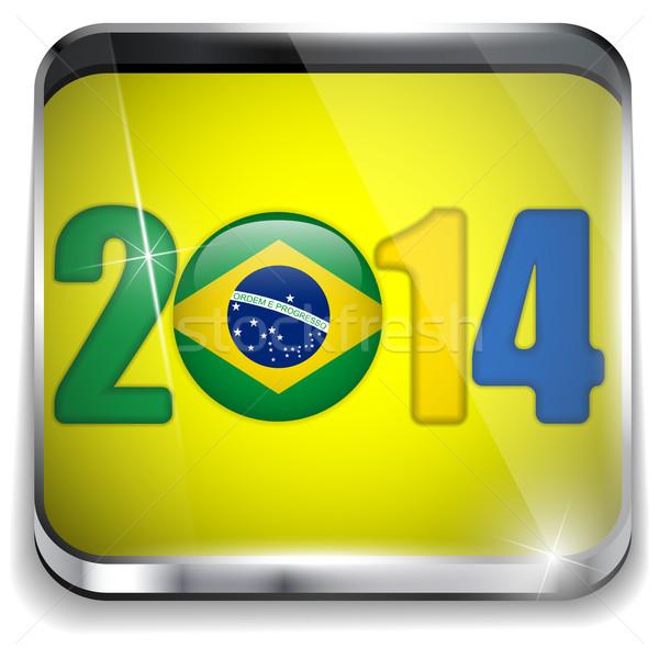 ブラジル 2014 サッカー フラグ ベクトル スポーツ ストックフォト © gubh83