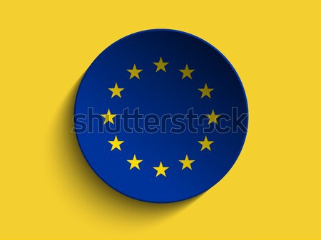 Europe Flag Paper Circle Shadow Button Stock photo © gubh83