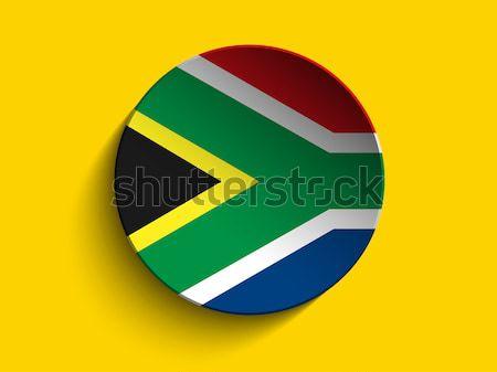 Sudáfrica bandera papel círculo sombra botón Foto stock © gubh83