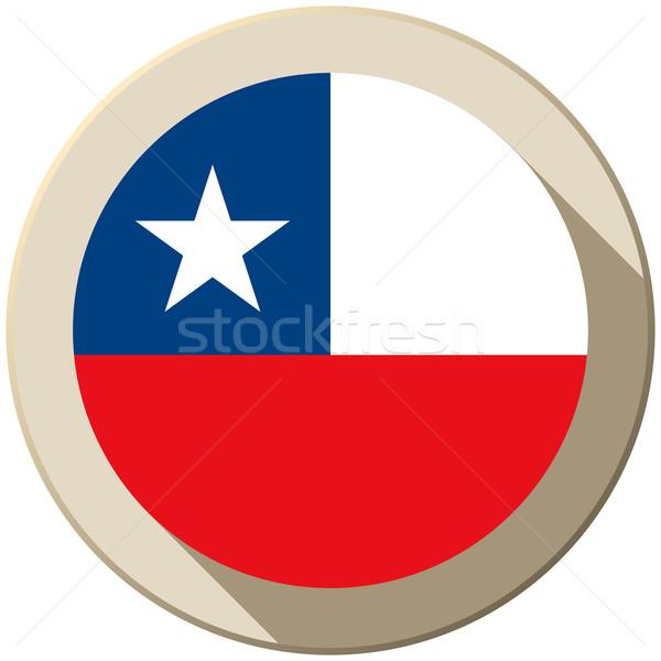 Chile bandiera pulsante icona moderno vettore Foto d'archivio © gubh83