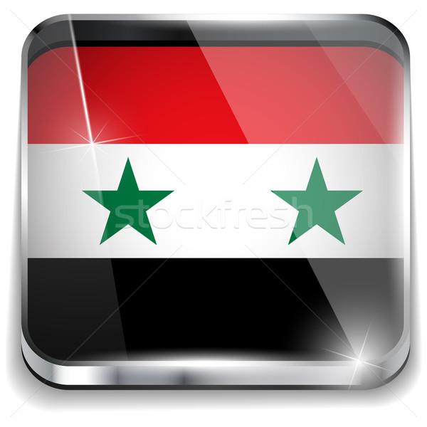 シリア フラグ スマートフォン アプリケーション 広場 ボタン ストックフォト © gubh83