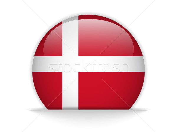 Denemarken vlag glanzend knop vector glas Stockfoto © gubh83