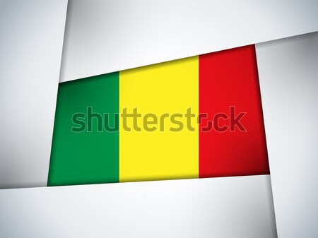 Mali Country Flag Geometric Background Stock photo © gubh83