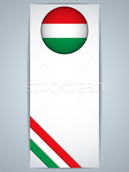 Węgry kraju zestaw banery wektora streszczenie Zdjęcia stock © gubh83