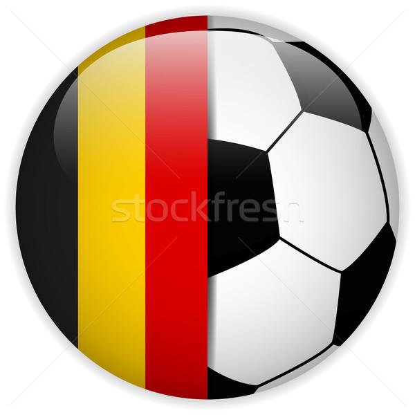 Belgia banderą piłka wektora świat piłka nożna Zdjęcia stock © gubh83