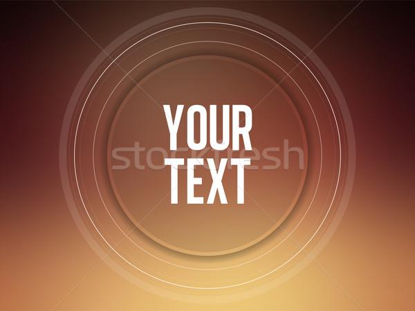 Circle text frame on blur background Stock photo © gubh83