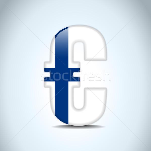 Euro símbolo Finlândia bandeira vetor dinheiro Foto stock © gubh83