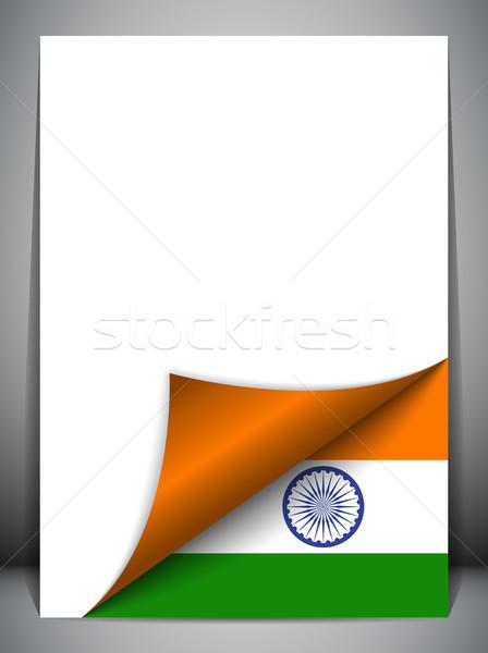 Индия стране флаг страница вектора знак Сток-фото © gubh83
