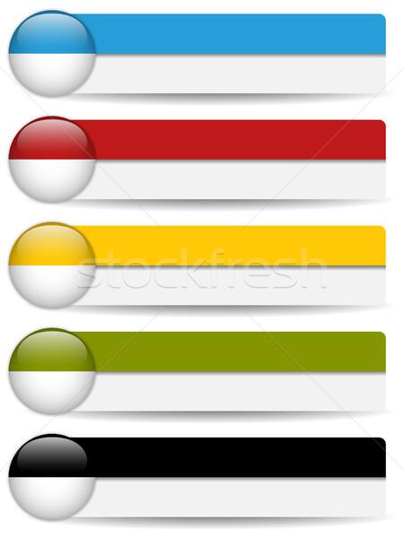 Internetowych przyciski kolorowy bary Zdjęcia stock © gubh83