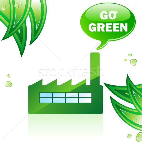 Go Green Glossy Factory.  Stock photo © gubh83