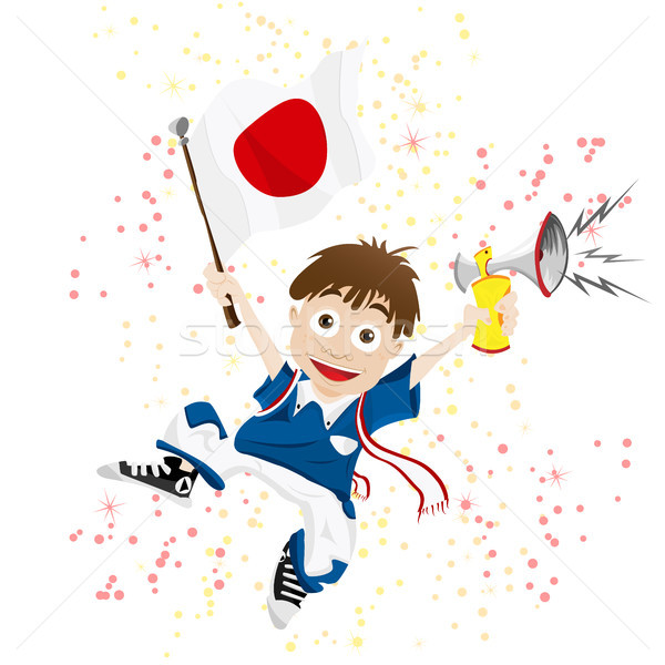 Japan Sport Fan with Flag and Horn Stock photo © gubh83
