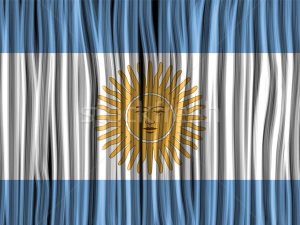 Argentine pavillon vague tissu texture vecteur Photo stock © gubh83